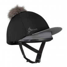 LeMieux Hat Silk with Detachable Faux Fur Pom Pom-Black